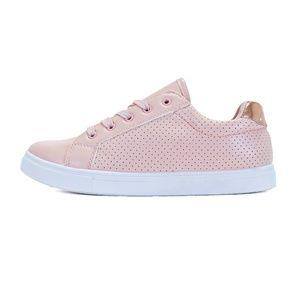 Pink Dot Lace up Platform Fashion Sneaker Noah